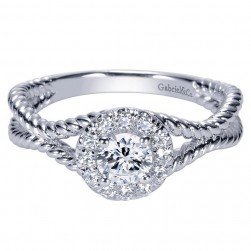 Gabriel 14 Karat Contemporary Engagement Ring ER98563W44JJ