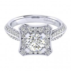 Gabriel 14 Karat Perfect Match Engagement Ring ER002B4AEW44JJ