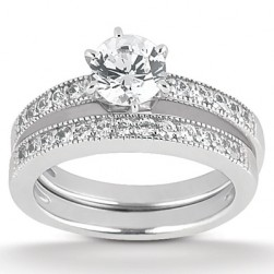 Taryn Collection Platinum Diamond Engagement Ring TQD A-7611