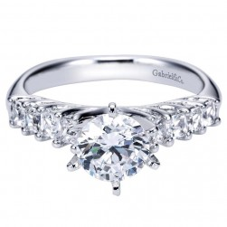 Gabriel 14 Karat Contemporary Engagement Ring ER3955W44JJ
