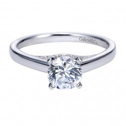Gabriel 14 Karat Contemporary Engagement Ring ER8034W44JJ