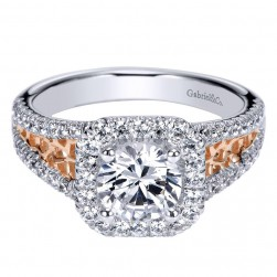 Gabriel 14 Karat Contemporary Engagement Ring ER9035T44JJ