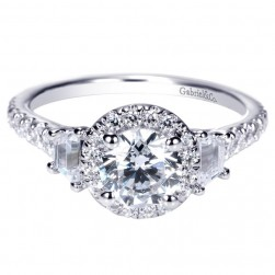 Gabriel 14 Karat Contemporary Engagement Ring ER98622W44JJ