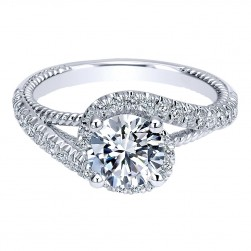 Gabriel 14 Karat Contemporary Engagement Ring ER10128W44JJ