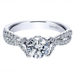 Gabriel 14 Karat Round Twisted Engagement Ring ER8039W44JJ
