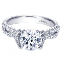 Gabriel 14 Karat Round Twisted Engagement Ring ER8043W44JJ