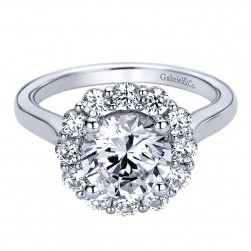 Gabriel - Althea 14 Karat Round Halo Engagement Ring ER9452W44JJ