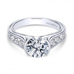 Gabriel - Colton 14 Karat Round Straight Engagement Ring ER8895W44JJ