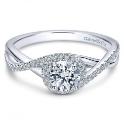 Gabriel - Courtney 14 Karat Round Twisted Engagement Ring ER9337W44JJ