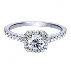 Gabriel - Margot 14 Karat Round Halo Engagement Ring ER8265W44JJ