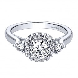 Gabriel - Martine 14 Karat Round Halo Engagement Ring ER9377W44JJ