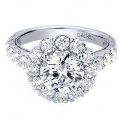 Gabriel - Rosalyn 14 Karat Round Halo Engagement Ring ER9407W44JJ