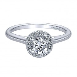 Gabriel - Stacy 14 Karat Round Halo Engagement Ring ER9515W44JJ