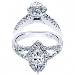 Taryn 14k White Gold Marquise Halo Engagement Ring TE7741W44JJ