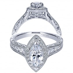 Taryn 14k White Gold Marquise Halo Engagement Ring TE8812W44JJ