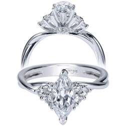 Taryn 14k White Gold Marquise Twisted Engagement Ring TE8954W44JJ