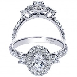 Taryn 14k White Gold Oval Halo Engagement Ring TE9005W44JJ