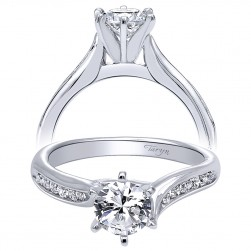 Taryn 14k White Gold Round Bypass Engagement Ring TE10124W44JJ