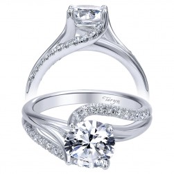 Taryn 14k White Gold Round Bypass Engagement Ring TE10196W44JJ