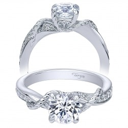 Taryn 14k White Gold Round Bypass Engagement Ring TE10267W44JJ
