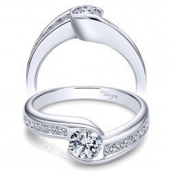 Taryn 14k White Gold Round Bypass Engagement Ring TE10463W44JJ
