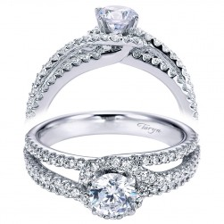 Taryn 14k White Gold Round Bypass Engagement Ring TE6949W44JJ