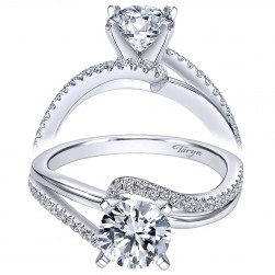Taryn 14k White Gold Round Bypass Engagement Ring TE6974W44JJ
