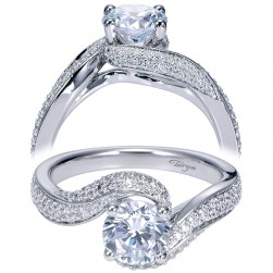 Taryn 14k White Gold Round Bypass Engagement Ring TE7251W44JJ