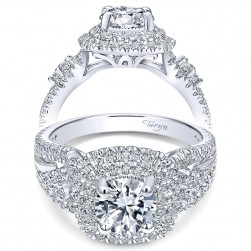 Taryn 14k White Gold Round Double Halo Engagement Ring TE10268W44JJ