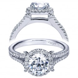 Taryn 14k White Gold Round Halo Engagement Ring TE7276W44JJ