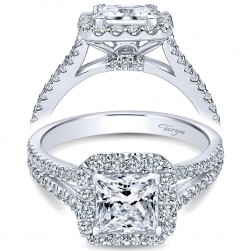 Taryn 14k White Gold Round Halo Engagement Ring TE7277W44JJ