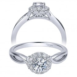 Taryn 14k White Gold Round Halo Engagement Ring TE911778R0W44JJ