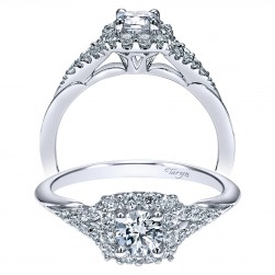 Taryn 14k White Gold Round Halo Engagement Ring TE911786R0W44JJ