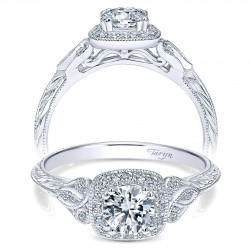 Taryn 14k White Gold Round Halo Engagement Ring TE911866R0W44JJ