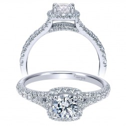 Taryn 14k White Gold Round Halo Engagement Ring TE911897R0W44JJ