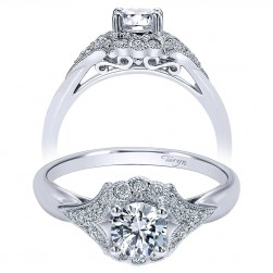 Taryn 14k White Gold Round Halo Engagement Ring TE911958R2W44JJ
