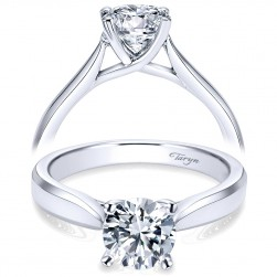 Taryn 14k White Gold Round Solitaire Engagement Ring TE6591W4JJJ