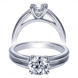 Taryn 14k White Gold Round Solitaire Engagement Ring TE8135W4JJJ