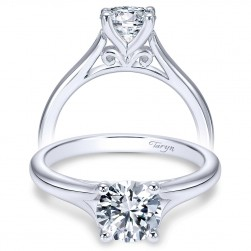 Taryn 14k White Gold Round Solitaire Engagement Ring TE8139W4JJJ