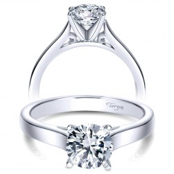 Taryn 14k White Gold Round Solitaire Engagement Ring TE8292W4JJJ