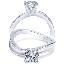 Taryn 14k White Gold Round Solitaire Engagement Ring TE9086W4JJJ