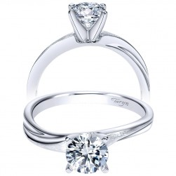 Taryn 14k White Gold Round Solitaire Engagement Ring TE9087W4JJJ