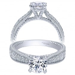 Taryn 14k White Gold Round Straight Engagement Ring TE10114W44JJ