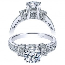 Taryn 14k White Gold Round Straight Engagement Ring TE3700W44JJ