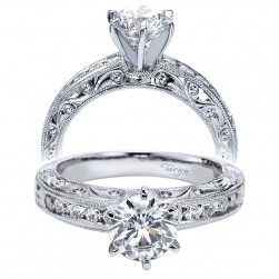 Taryn 14k White Gold Round Straight Engagement Ring TE4178W44JJ