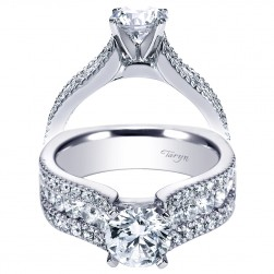 Taryn 14k White Gold Round Straight Engagement Ring TE4254W44JJ