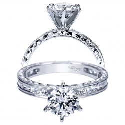 Taryn 14k White Gold Round Straight Engagement Ring TE4312W44JJ