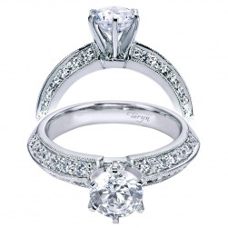 Taryn 14k White Gold Round Straight Engagement Ring TE5591W44JJ