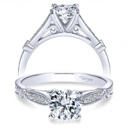 Taryn 14k White Gold Round Straight Engagement Ring TE7999W44JJ