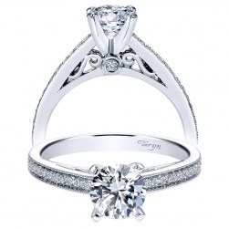 Taryn 14k White Gold Round Straight Engagement Ring TE8061W44JJ